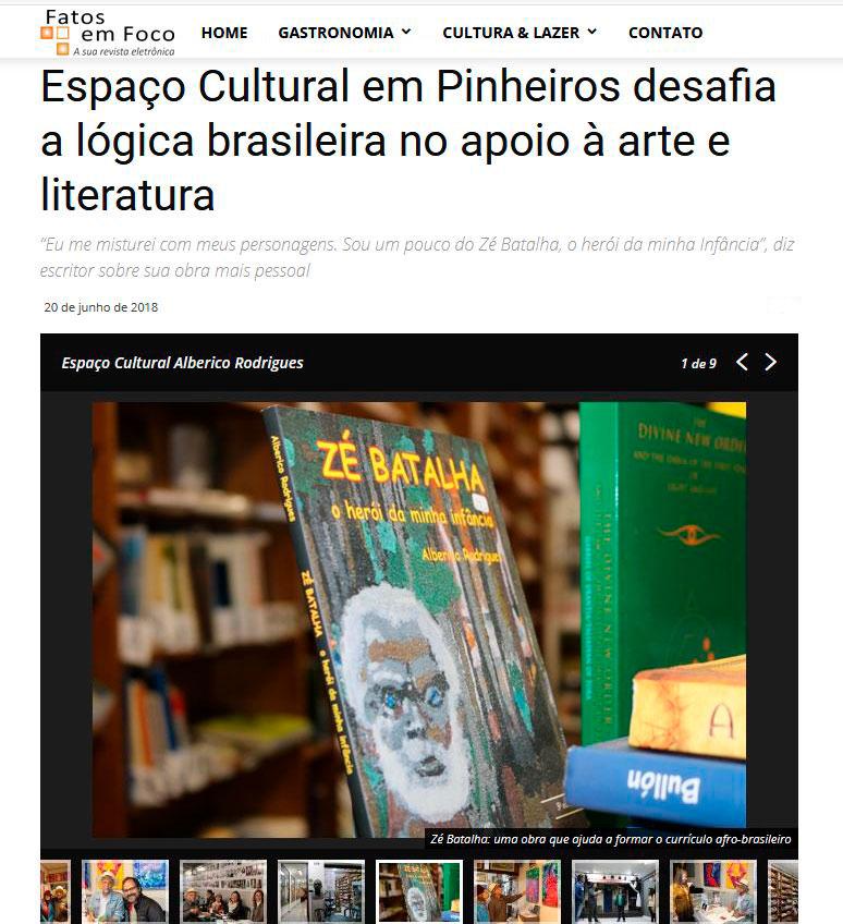 Reportagem sobre o Espaço Cultural Alberico Rodrigues